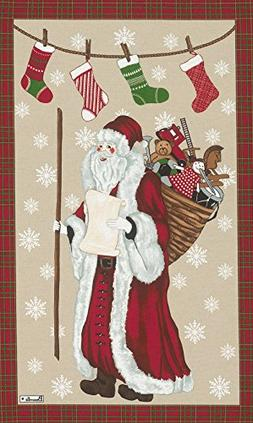 Beauville, Pere Noel  French Holiday Kitchen / Tea Towel, Si