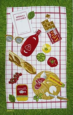 Beauville, Pique Nique  French Kitchen / Tea Towel, Silk Scr