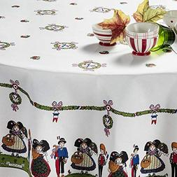 "Beauvillé, Hansi Alsacienne French Tablecloth, 39"" X 39"", 1"