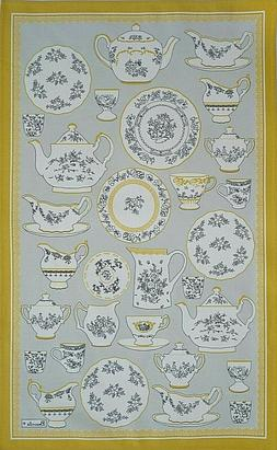 BEAUVILLE, PORCELAINE  FRENCH SILK-SCREENED KITCHEN / TEA TO