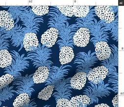 Black And White Kitchen Towel Pineapples Fabric Printed by S