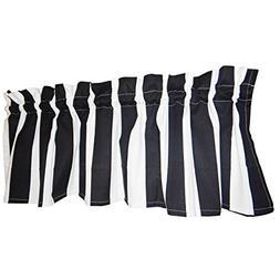 black curtain valance