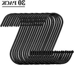 Black S Hooks Steel S Hanging Hooks Metal Kitchen Pot Rack T