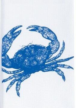 Blue Crab Printed Flour Sack 27 Inch Kitchen Dish Towel