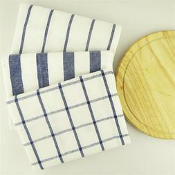 Blue Striped <font><b>Cotton</b></font> Plaid Mats Placemats