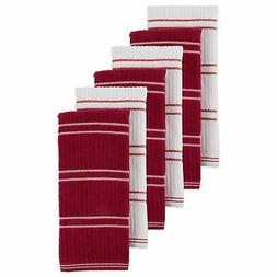 Brand New J & M Home Fashions 6Pk Ribbed Terry Kitchen Towel