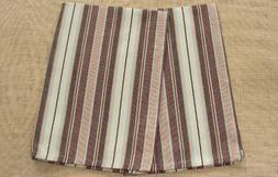 Set of 2 Park Designs BRICH WOOD  Stripes Kitchen Towels - B