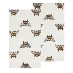 Bumble Bee Yellow Stripe 27 x 18 Cotton Fabric Printed Kitch