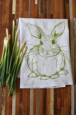 Oh, Little Rabbit Bunny Rabbit Screen Printed Flour Sack Kit