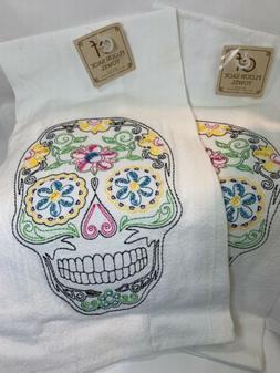 C&F Flour Sack Sugar Skull Day Of The Dead Kitchen Flour Sac