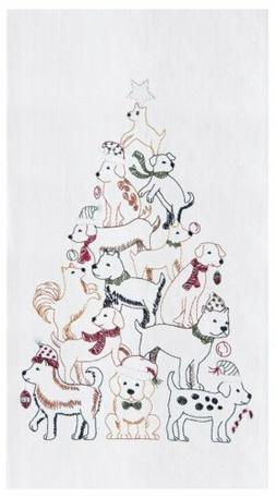 "C&F Home 18"" x 27"" Puppy Tree Flour Sack Kitchen Towel"