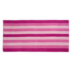 "Cabana Stripe Terry Cotton Beach Towel, 29x59"", Soft Absorbe"