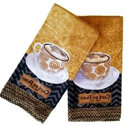 Kitchen Towels Coffee Theme Set of 2