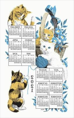 Kay Dee Designs - 2019 Linen Calendar - Curious Kittens
