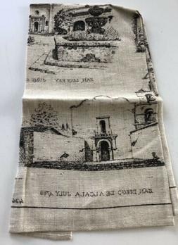 Kay Dee Designs California Missions  Linen Kitchen Tea Towel