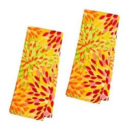 Fiesta Calypso Sunflower Floral Kitchen Towels Yellow Orange