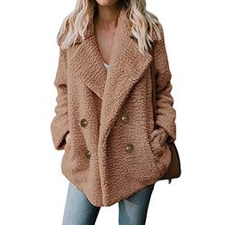 Casual Women Plush Overcoat Faux Fur Coat New Winter Warm So