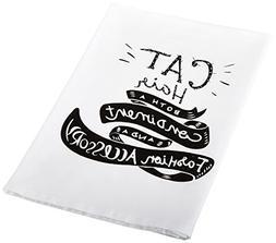 cat hair tea towel