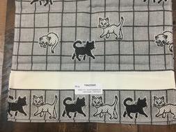 Zweigart Cat Kitchen Towel 100% Cotton 11 Count Cross Stitch