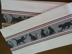 Cat Linen Dish Towels - new, with tag
