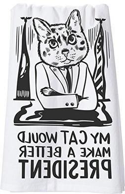 Primitives by Kathy Lol Dish Towel, 28 x 28, Cat