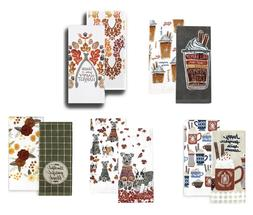 Celebrate Fall Together Kitchen Towels  NEW