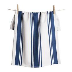 KAF Home Centerband Oversized Kitchen Towel, 100% Cotton, Bl