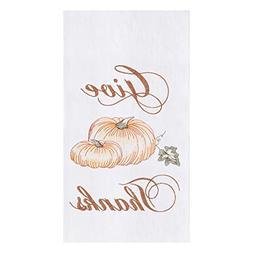 CFF Give Thanks Pumpkins Fall Flour Sack Kitchen Dish Towel