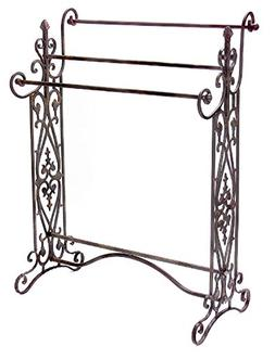 """CC Home Furnishings 35"""" Charismatic Quilt/Towel Rack with Or"""