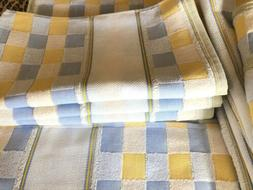 Charles Craft Yellow Blue & White Check Kitchen Towels Cotto