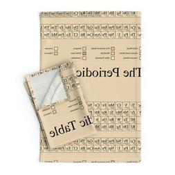 Chemistry Periodic Table Science Linen Cotton Tea Towels by