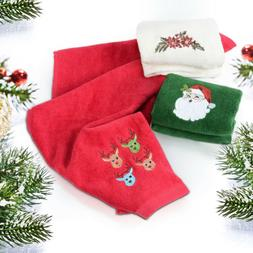 Christmas Hand Towels Washcloths 100% Pure Cotton Bathroom D