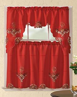 All American Collection New 3pc Christmas Holiday Design Emb