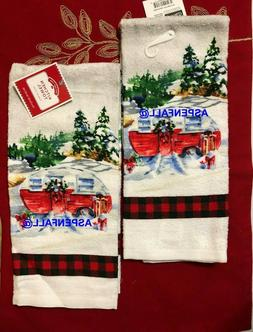 CLEARANCE SALE!  2  Cotton Kitchen Dish Towels Family Camper