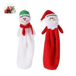 Christmas Santa Claus Hand Loop Towel Kitchen Cleaning Wash