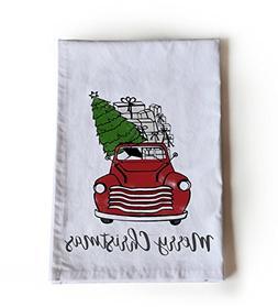 Amore Beaute Christmas Tea Towel, Christmas Tree In A Car, C