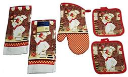 Home Collection Classic Italian Chef  5 Piece Bundle of Kitc