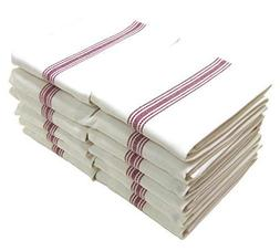 Large Classic Kitchen Dish Towels 12-Pack 100% Natural Cotto