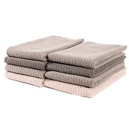 Clean it Microfiber Towel 8-Pack , 100-Percent Polyester, No