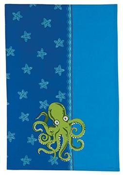 Coastal Deep Blue Sea Octopus and Starfish Kitchen 28 Inch T