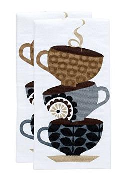 T-fal Textiles Double Sided Print Woven Cotton Kitchen Dish
