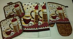 Coffee Theme Kitchen Linen Set