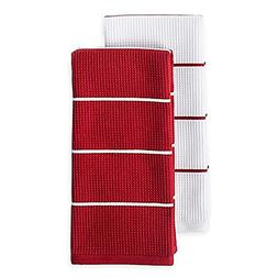 Noritake Colorwave Dual Purpose Kitchen Towels, 100% Cotton,