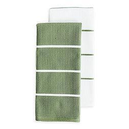 Noritake Colorwave Dual Purpose Kitchen Towels, 100% Cotton,