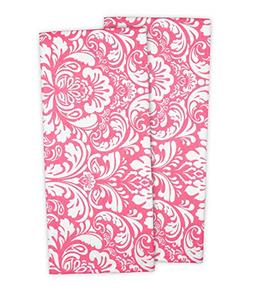 "DII Cotton Damask Kitchen Dish Towels, 28 x 18"" Set of 2, Lo"