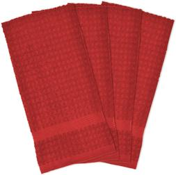 """DII Cotton Waffle Terry Dish Towels, 15 x 26"""" Set of 4, Ultr"""
