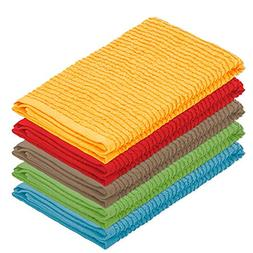 DecorRack 5 Pack 100% Cotton Bar Mop, 16 x 19 inch, Ultra Ab