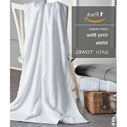 Cotton Bath Towels Sheets for 1 Pack, 31x59 Inches Hotel Bat