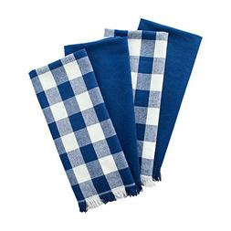 DII Woven Heavyweight Cotton Dish Towels with Decorative Fri
