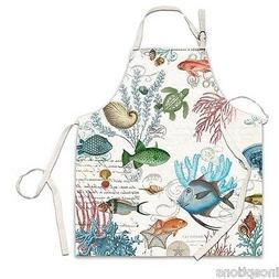 Michel Design Works Cotton Chef Apron, Sea Life